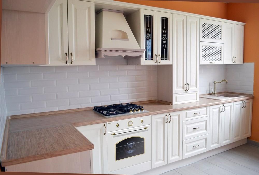 Белый кухонный гарнитур-Кухня МДФ в ПВХ «Модель 83»-фото2
