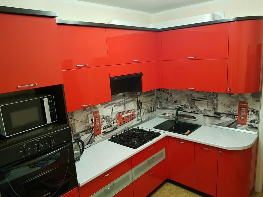 Акриловые кухни-Кухня из пластика «Модель 138»-фото2