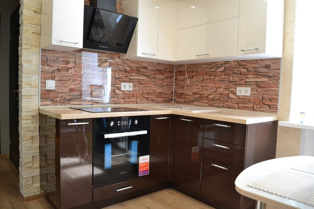 Белый кухонный гарнитур-Кухня МДФ в ПВХ «Модель 177»-фото1