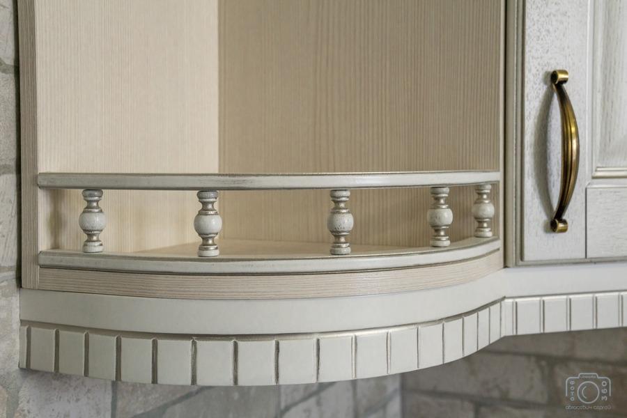 Белый кухонный гарнитур-Кухня из шпона «Модель 7»-фото10