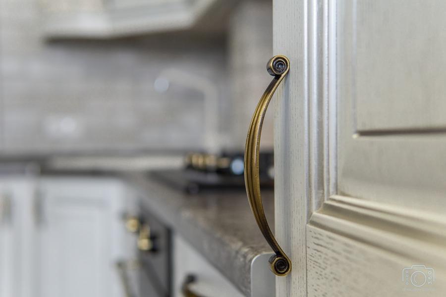 Белый кухонный гарнитур-Кухня из шпона «Модель 7»-фото11