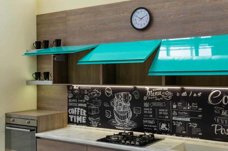 Встроенная кухня-Кухня МДФ в эмали «Модель 49»-фото6
