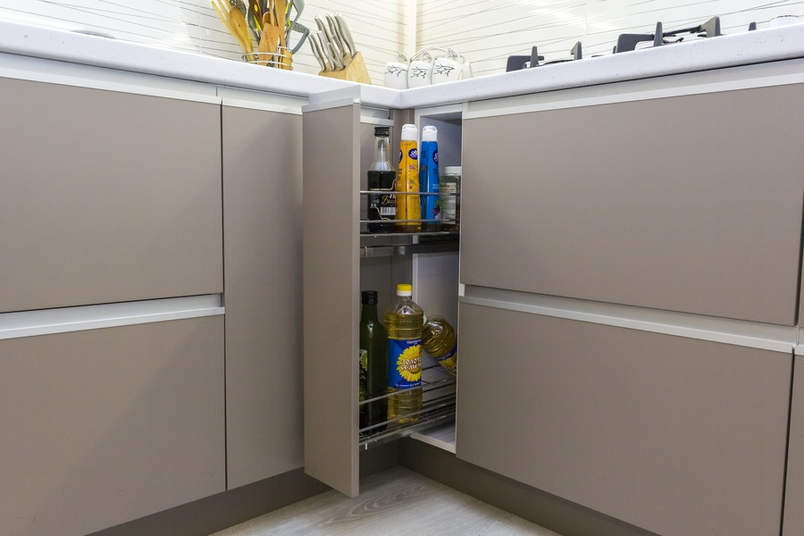 Белый кухонный гарнитур-Кухня МДФ в ПВХ «Модель 9»-фото10