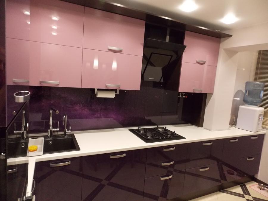Глянцевые кухни-Кухня из шпона «Модель 16»-фото3
