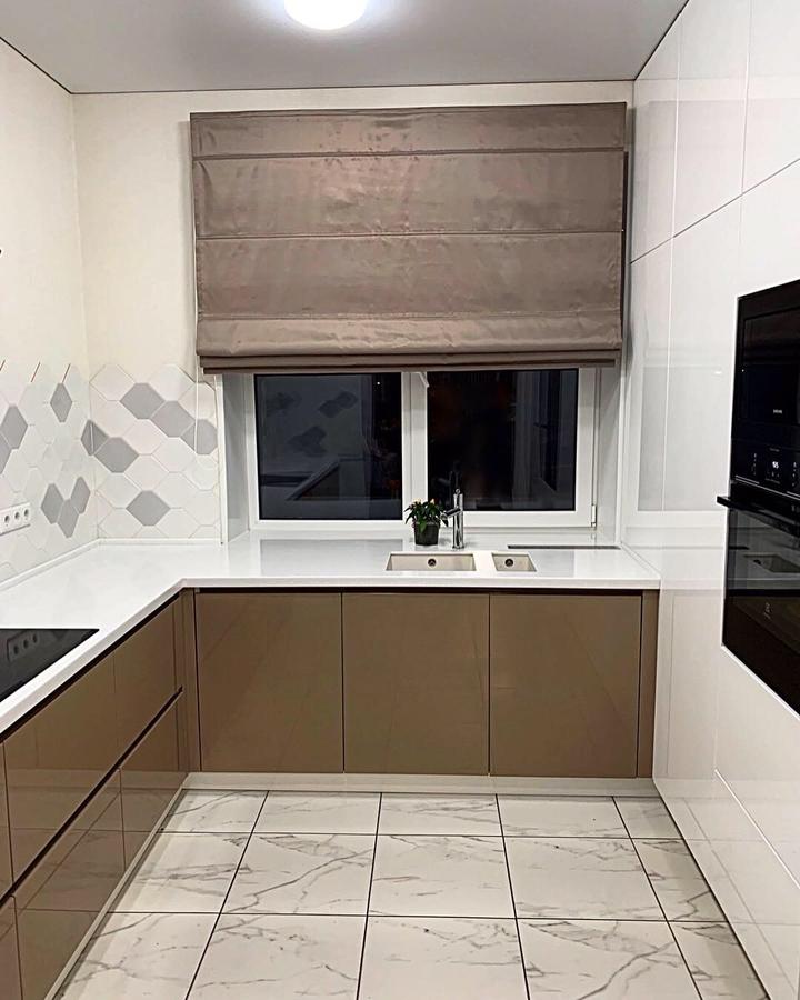 Встроенная кухня-Кухня МДФ в ПВХ «Модель 60»-фото1