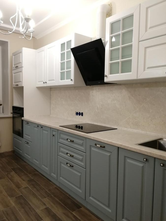 Классические кухни-Кухня МДФ в ПВХ «Модель 28»-фото3