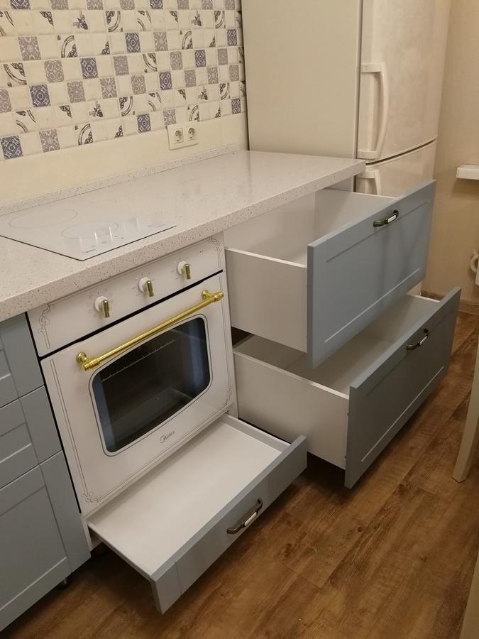 Классические кухни-Кухня МДФ в ПВХ «Модель 28»-фото11