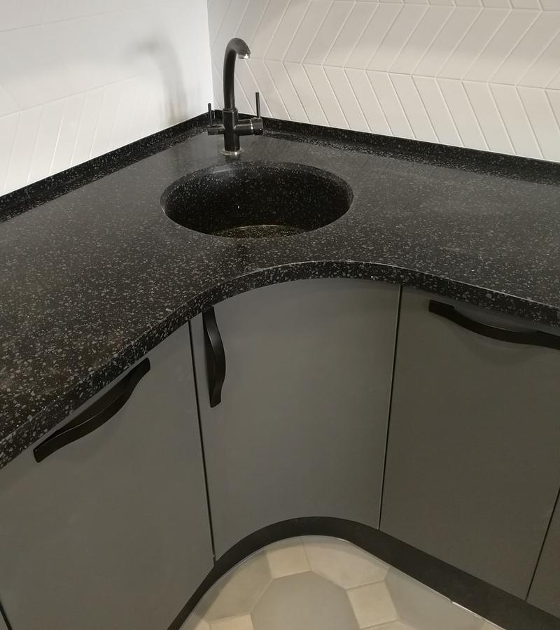 Белый кухонный гарнитур-Кухня МДФ в ПВХ «Модель 29»-фото4