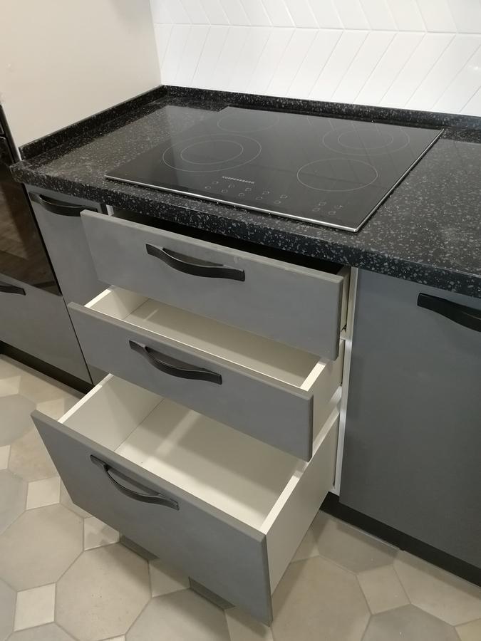 Белый кухонный гарнитур-Кухня МДФ в ПВХ «Модель 29»-фото8