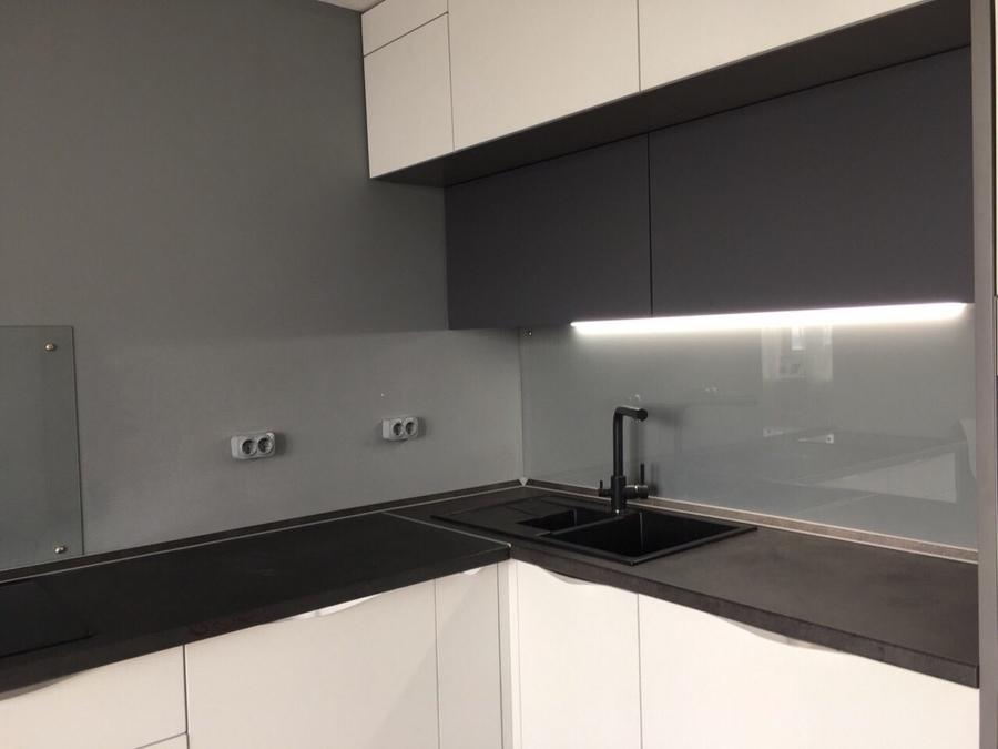 Белый кухонный гарнитур-Кухня из пластика «Модель 364»-фото3