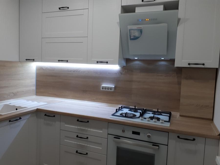 Белый кухонный гарнитур-Кухня МДФ в ПВХ «Модель 500»-фото3