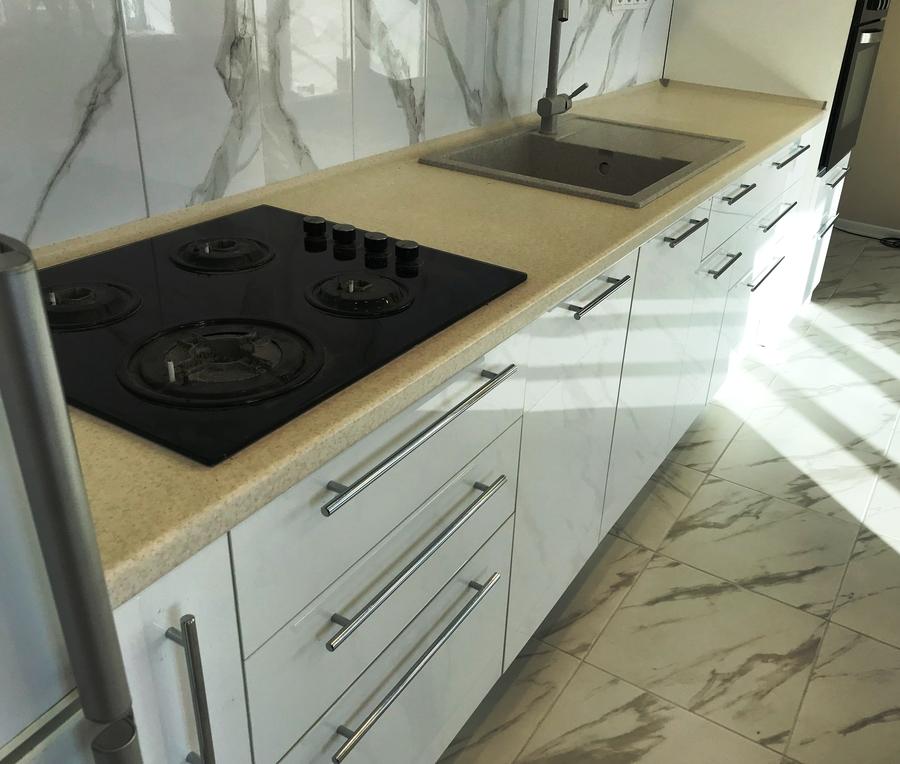 Белый кухонный гарнитур-Кухня МДФ в пластике «Модель 488»-фото3