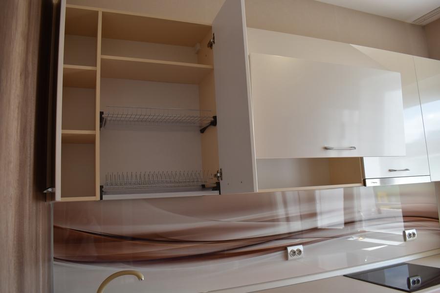 Белый кухонный гарнитур-Кухня МДФ в ПВХ «Модель 504»-фото11