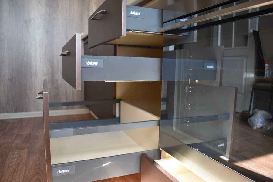 Белый кухонный гарнитур-Кухня МДФ в ПВХ «Модель 504»-фото10