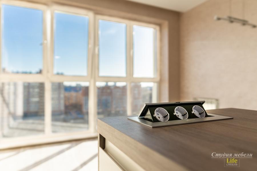 Белый кухонный гарнитур-Кухня из ЛДСП «Модель 424»-фото9