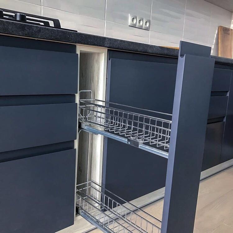 Белый кухонный гарнитур-Кухня МДФ в эмали «Модель 419»-фото3