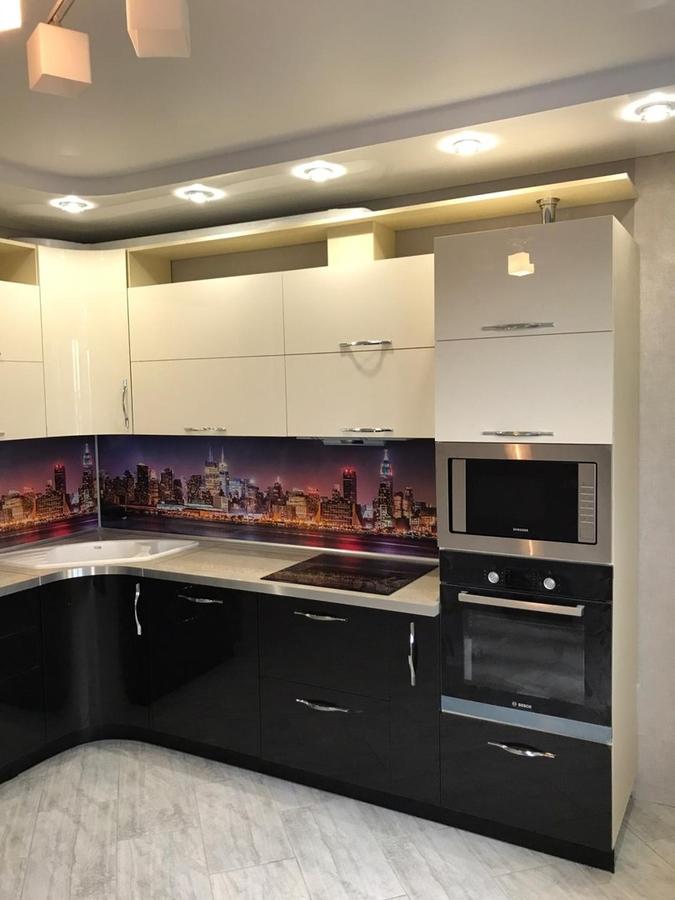 Глянцевые кухни-Кухня из пластика «Модель 398»-фото2