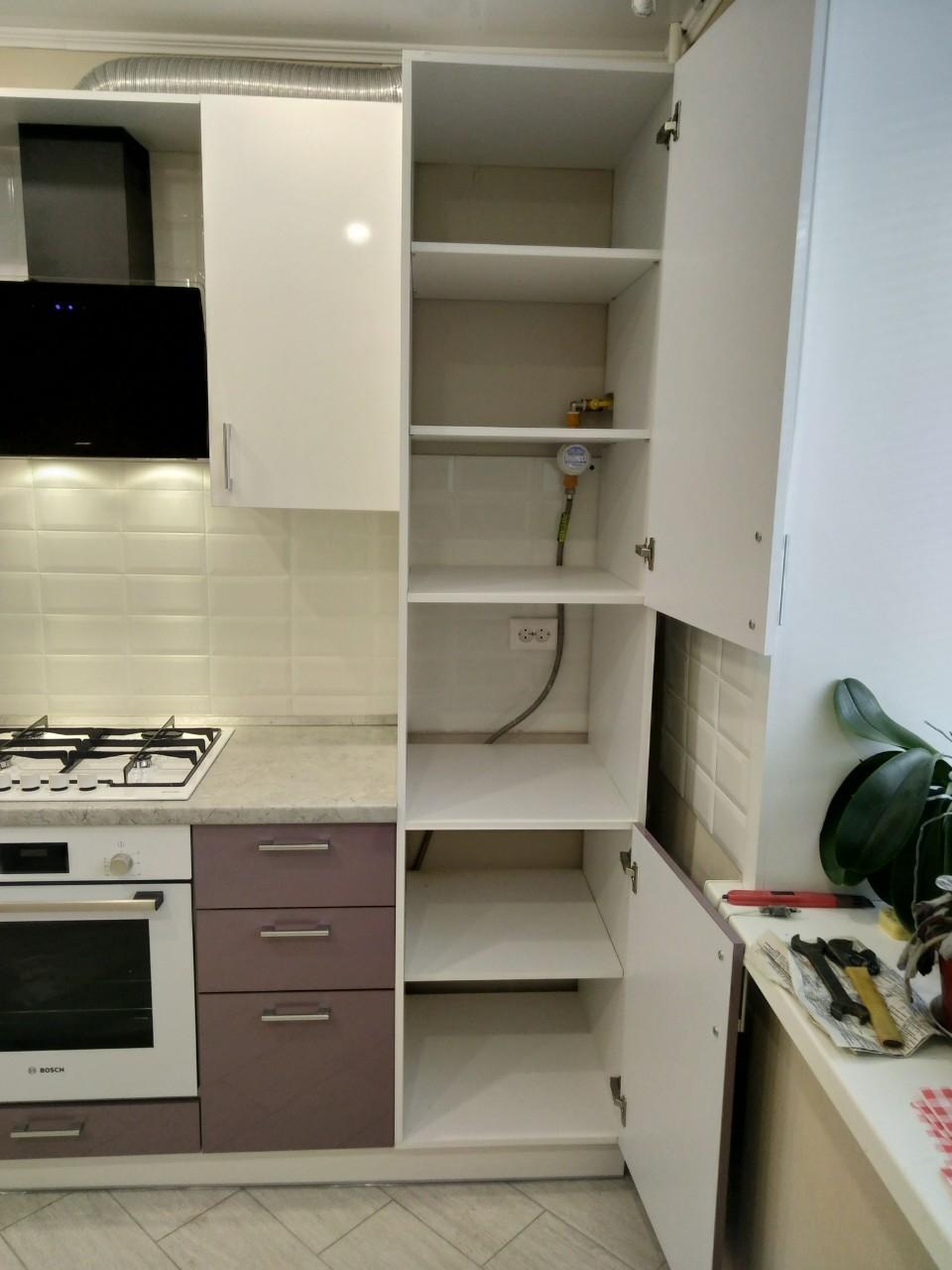 Белый кухонный гарнитур-Кухня МДФ в ПВХ «Модель 544»-фото6