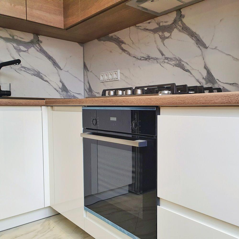 Белый кухонный гарнитур-Кухня МДФ в эмали «Модель 529»-фото5