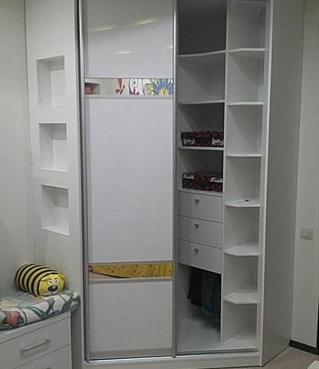 Белые шкафы-купе-Шкаф-купе из ЛДСП «Модель 379»-фото3