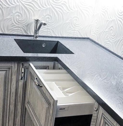 Встроенная кухня-Кухня МДФ в ПВХ «Модель 58»-фото8