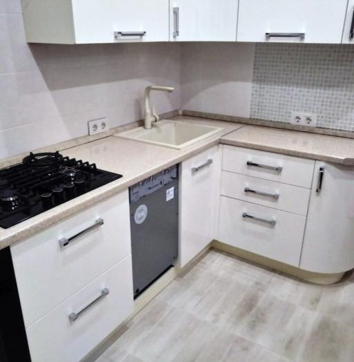 Белый кухонный гарнитур-Кухня МДФ в ПВХ «Модель 532»-фото8